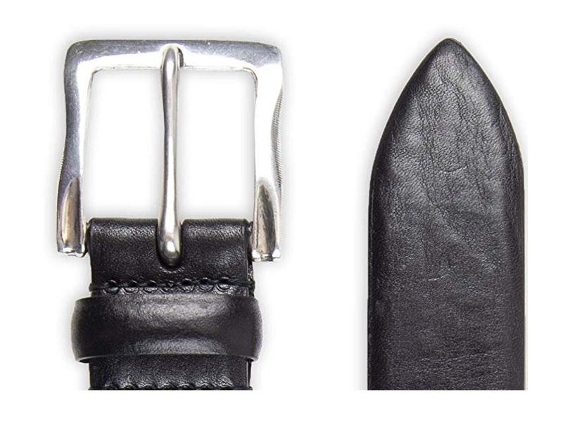 Black Suede 40 John Varvatos Leather Belts for Men Dress Casual for Jeans
