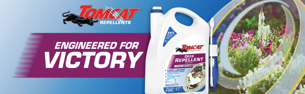 Banner: Tomcat Repellents, engineered for victory