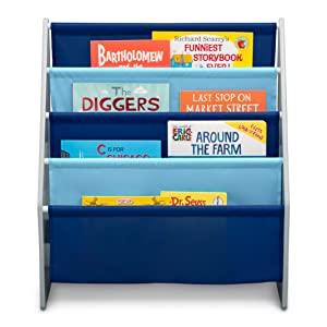 delta children bookshelf sling book rack kids toddler reading