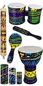 rise by sawtooth, percussion, starter, beginner, bundle, children, colorful, vibrant,hand percussion