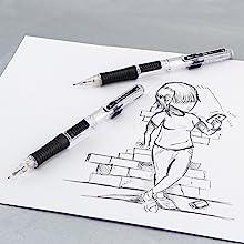 sketch, pentel, lead, art, artwork, pencil, pencils, mechanical