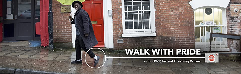 Walk With Pride with KIWI Instant Cleaning Wipes