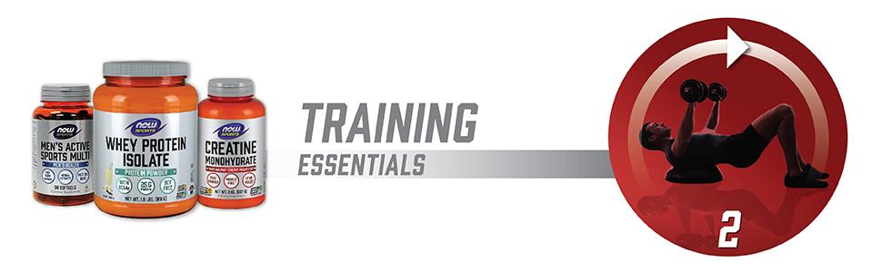 training essentials whey protein isolate mens active creatine