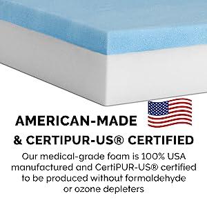 details; certification; safe; pet friendly; certipur; united states; america