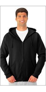 full zip, hooded sweatshirt, hoodie, soft, fleece, essentials, warm, soft