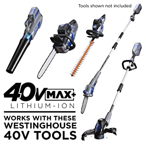 westinghouse tool set landscaping lawn garden hedge trimmer string trimmer chainsaw pole saw leaf