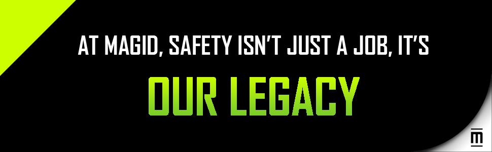 Magid, Glove, Safety, Work, Job, Legacy, Green, Black, Logo