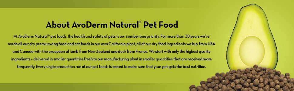 AvoDerm Natural Pet Food With Avocado