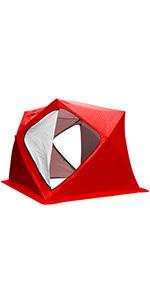 portable ice fishing house igloo ice fishing tent ice shanty white ice fishing tent