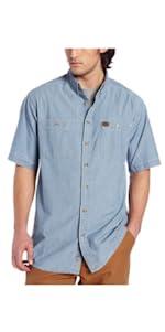 RIGGS Workwear Short Sleeve Chambray Work Shirt