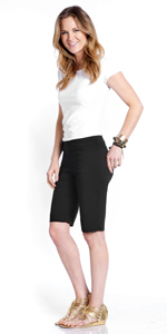 Walking Short Slimming Pant for Women wear to Work Pull-On Easy On Stretch Pant for women
