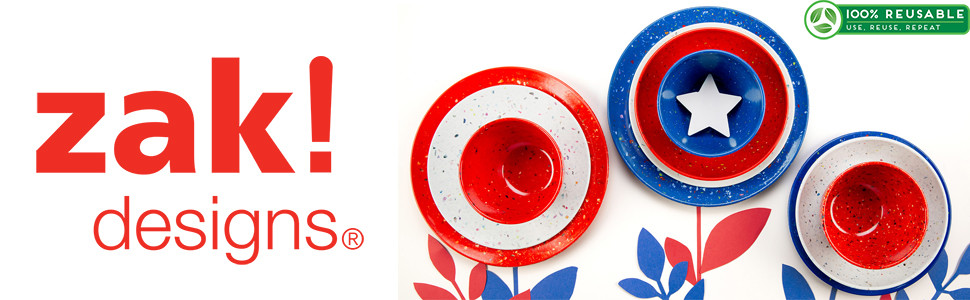 Made with 40% post-industrial recycled melamine.