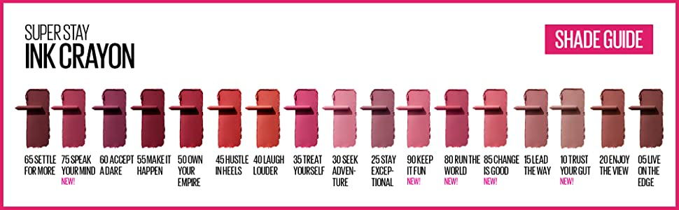 mayeblline superstay lip ink crayon lip color