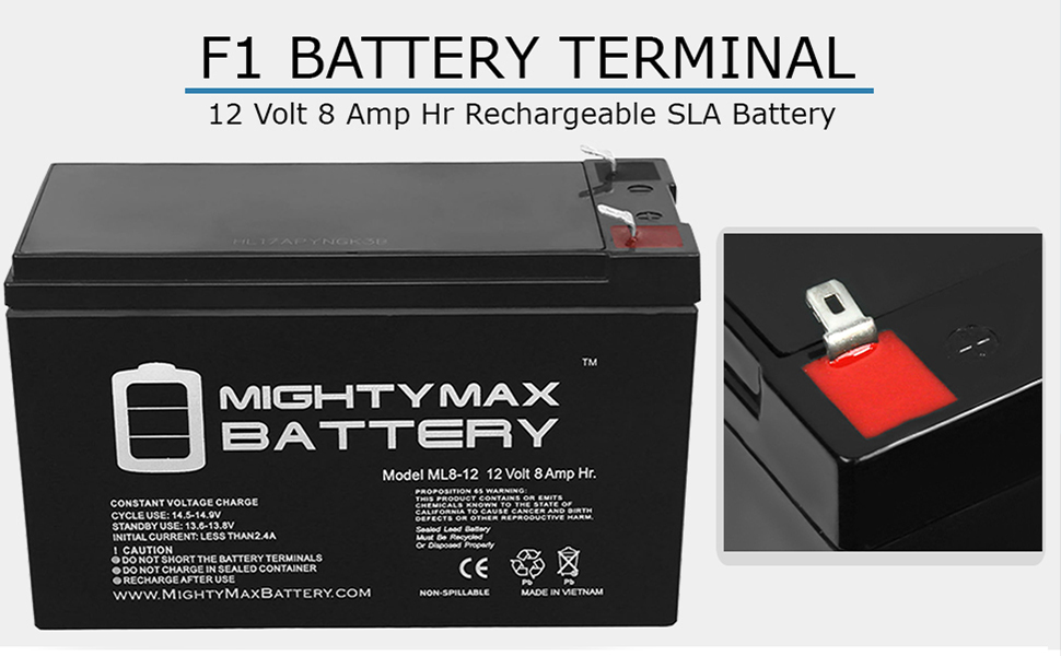 replacement battery for scooter mighty max ml8-12 ub1280 replacement battery for alarm fios lighting