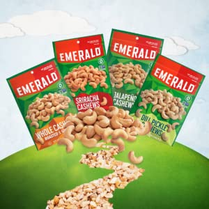 whole cashews, dill pickle nuts, cashews, jalapeno nuts