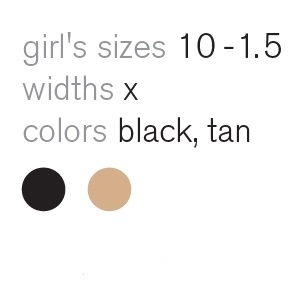 tap flex girls sizes