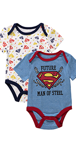 dc comics baby onesie clothing boy bodysuit