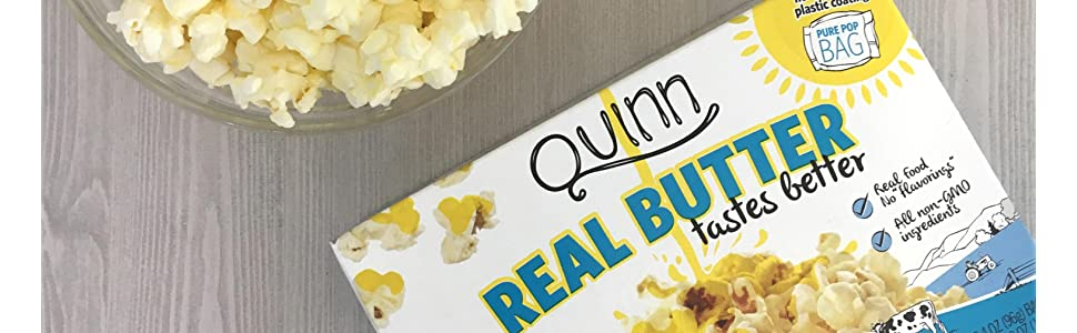 organic popcorn, real butter, healthy popcorn, microwave popcorn