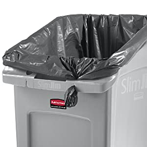 Rubbermaid Commercial Products Slim Jim Trash Can Thin Container Under Counter Cabinet Easy Access