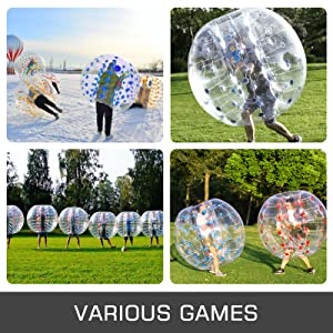 bubble soccer 1.2m inflatable bumper ball by ancheer
