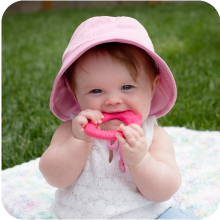 teether, breathable hat, green sprouts, i play