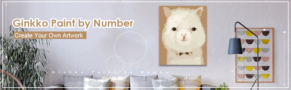 Various Cute Animal Series Paint by Numbers for Adults Kids Beginners Easy Acrylic on Canvas 16x20with Paints and Brushes,Pink Piggy Without Frame