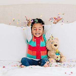 gund teddy bear happy birthday animated singing moving plush stuffed animal light up candle cupcake