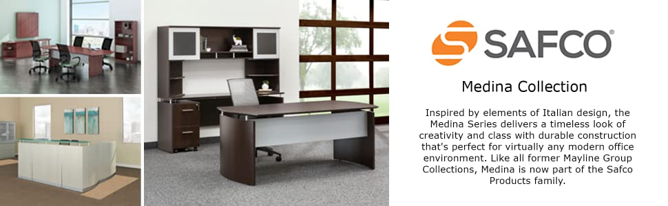 Medina business furniture collections in an office and conference room