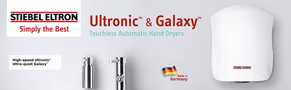 Ultronic & Galaxy Touchless Automatic Hand Dryers High Speed Ultra Quiet
