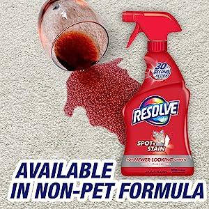 resolve pet carpet cleaner stain remover spot and stain carpet pet stain spot remover spray cleaning