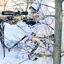 predator hunting, coyote hunting, snow camo, winter camo, cold weather camo