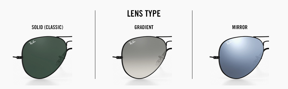 Lens type, type of lenses, classic lens, solid lens, gradient lens, mirror lens