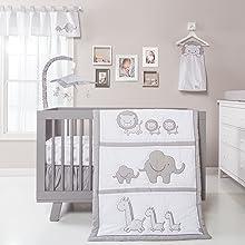 safari crib bedding, safari chevron crib bedding, gray and white crib bedding