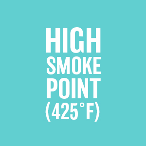 High Smoke Point 425 degrees Refined Coconut Oil