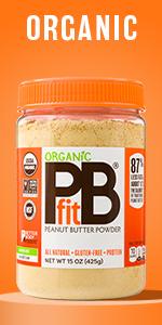 PBfit Organic Peanut Butter Powder