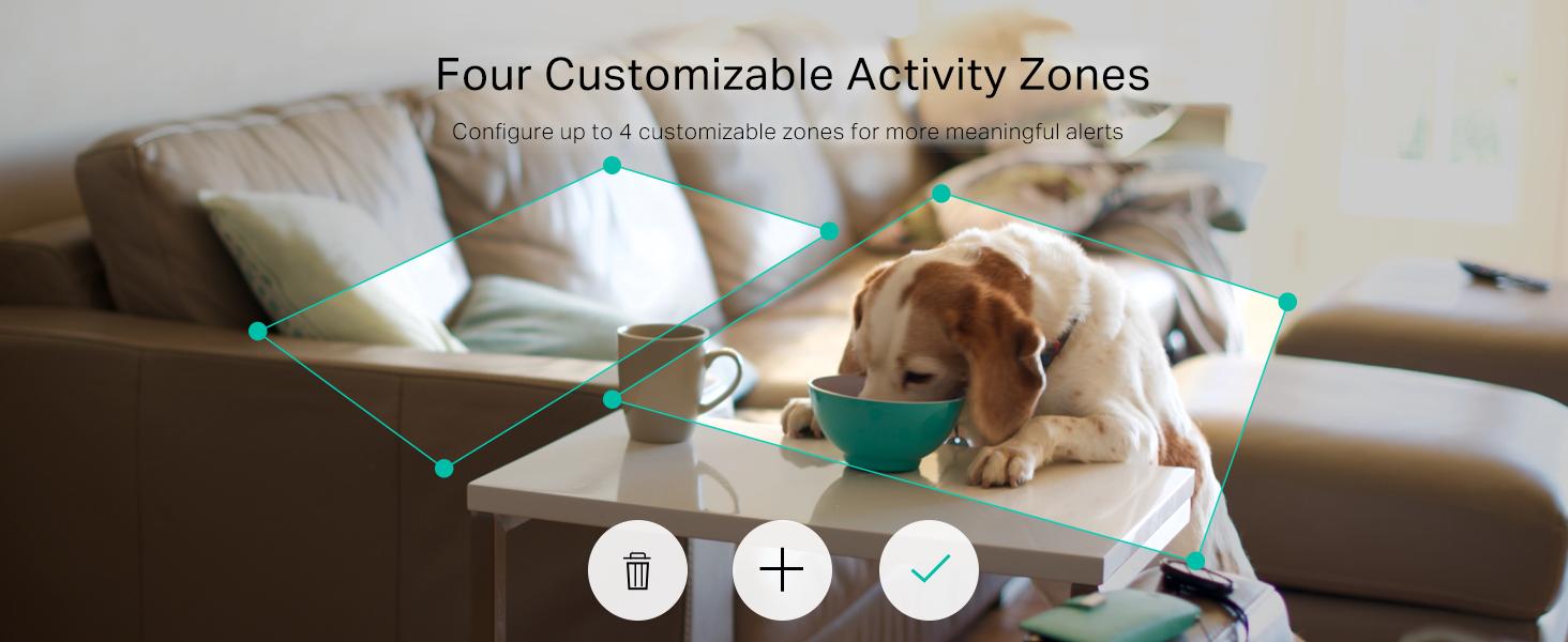 Four Customizable Activity Zones