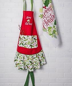 holiday apron,holiday dish towels,christmas apron,christmas dish towels,decorative dish towels
