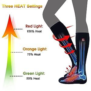 men women heate socks battery heat sox kit