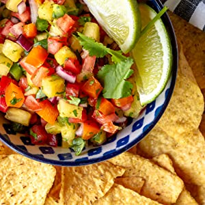 Mission Thin & Crispy Tortilla Chips with Pineapple Salsa