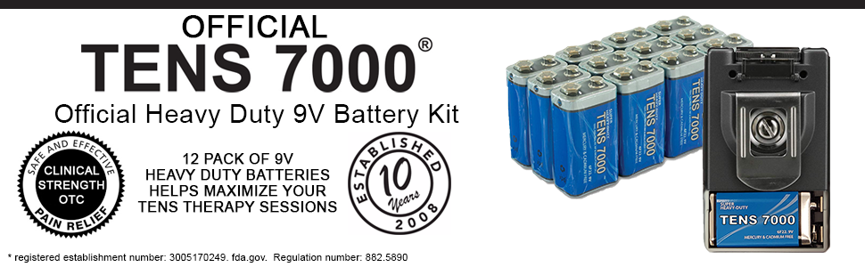 tens 9v heavy duty batteries