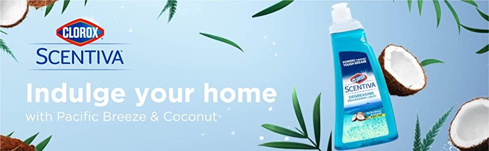 Clorox, Scentiva, Degreasing, Dishwashing Liquid, Pacific Breeze & Coconut Scent
