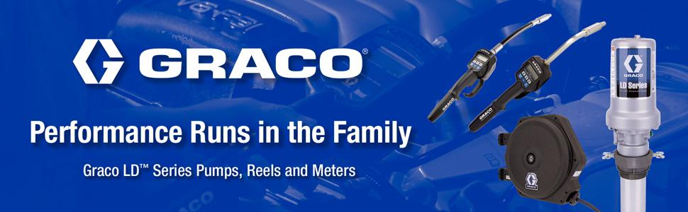 Graco, def, diesel, dispenser, exhaust, fluid, fuel, grease, hydraulics, meter, oil, pump, reel