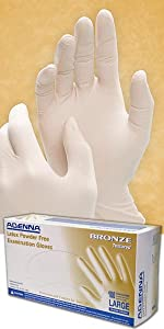 Bronze Latex Disposable Gloves white 5 mil thick