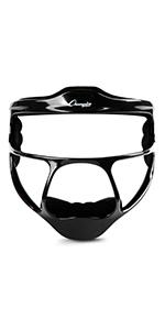 Champion Sports Magnesium Softball Face Mask, Black