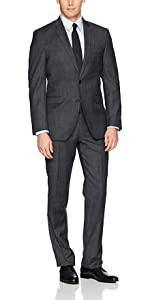 Kenneth cole suits, solid, stretch