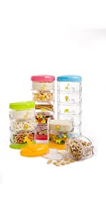 stackable snacks, snack container, portable snack container, kids snack containers