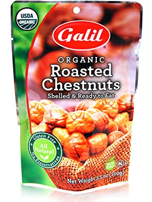 Galil USDA Organic Roasted Chestnuts - Shelled & Ready to Eat