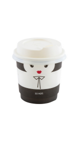 4oz paper espresso cups with faces are great for serving morning coffee and espresso to go.