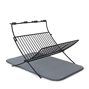 Umbra XDRU Dish Rack and Microfiber Dish Mat
