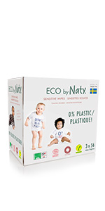 ecological compostable biodegradable baby wipes made for sensitive skin eco by naty turn to soil